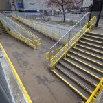 Bright handrail for key site in Elgin