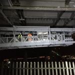 Maiden 'voyage' for bridge gantry