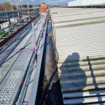 Rail depot roof on track